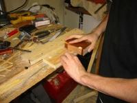 Toothpick Composite Lumber Sanding
