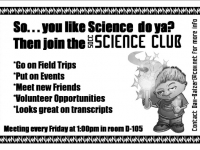 SDCC Science Club Flyer
